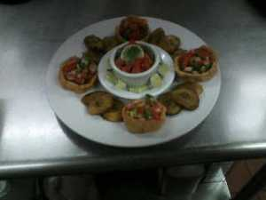 Sopa and Fried Plantain Platter